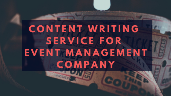 Content Writing Service for Event Management Company 1